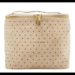 Kate Spade Canvas Dot Lunch Box Tote Cooler FFF